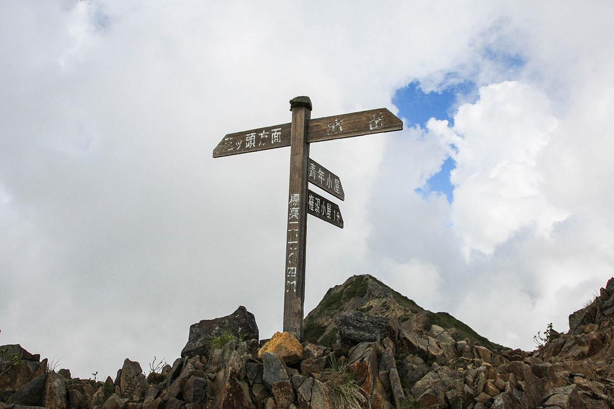 【南八ヶ岳 南北縦走】登山百景-ギボシと赤岳の分岐点