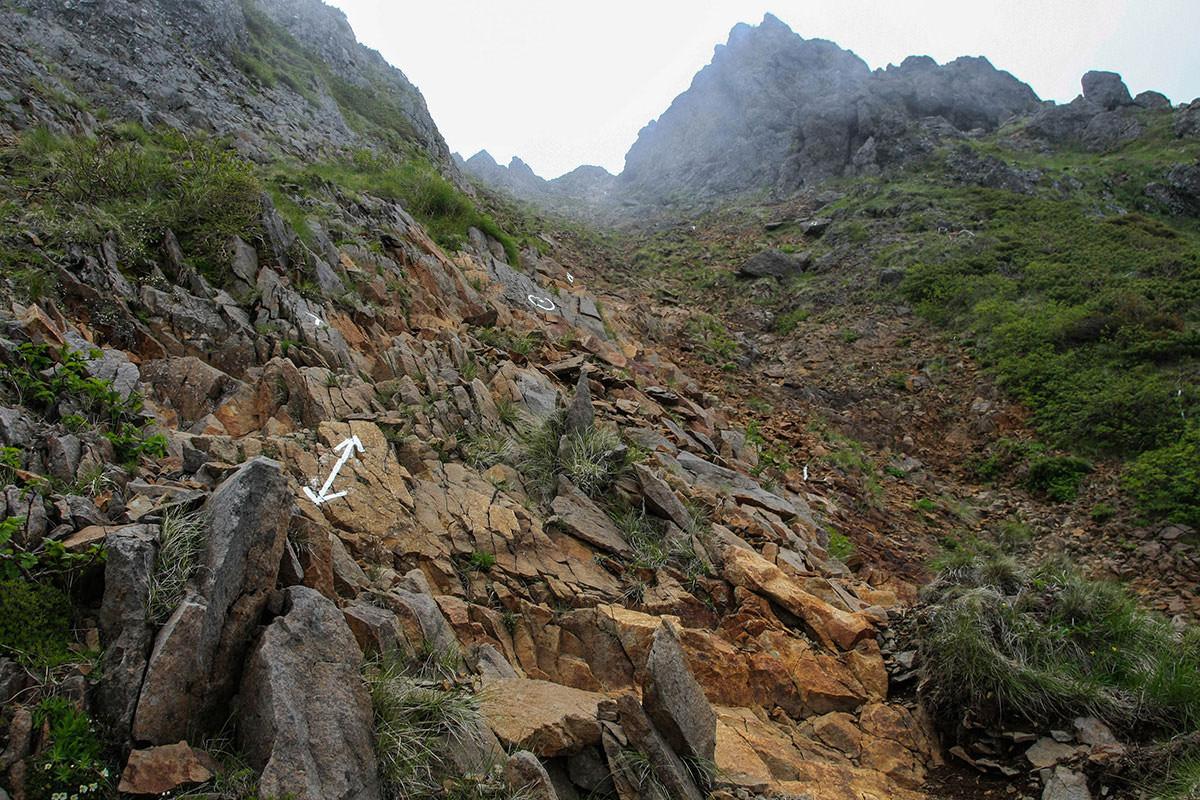 【南八ヶ岳 南北縦走】登山百景-印に沿ってよじ登る