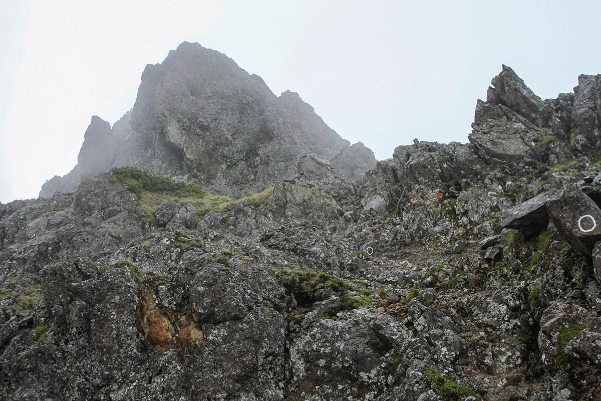 【南八ヶ岳 南北縦走】登山百景-さらに岩場