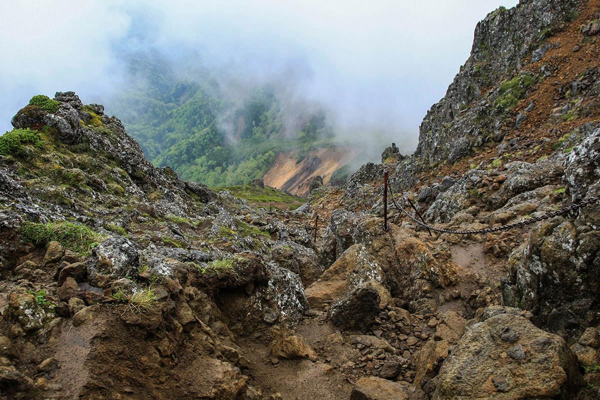 【南八ヶ岳 南北縦走】登山百景-文三郎尾根を見下ろす