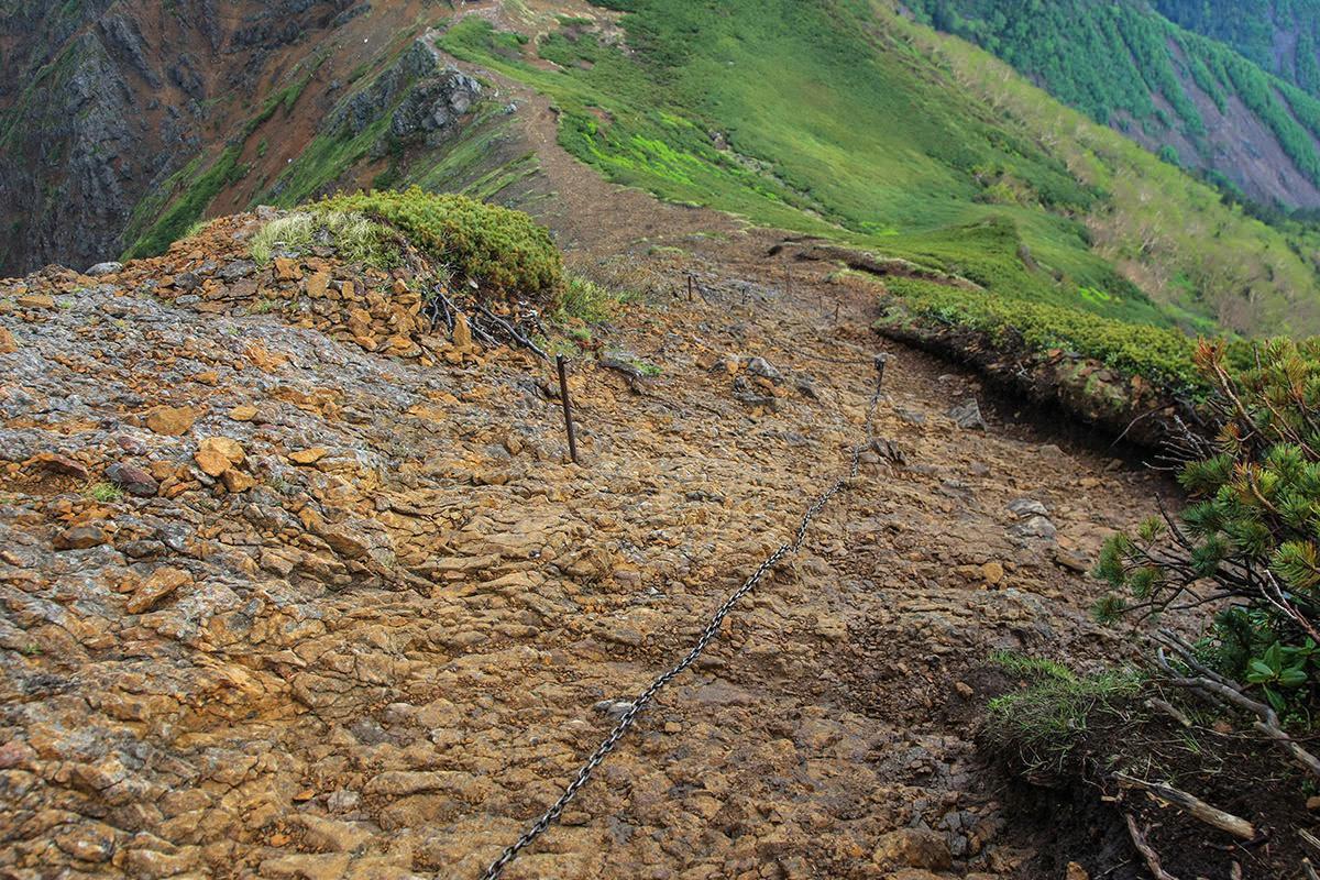 【南八ヶ岳 南北縦走】登山百景-赤岳北側のザレ場