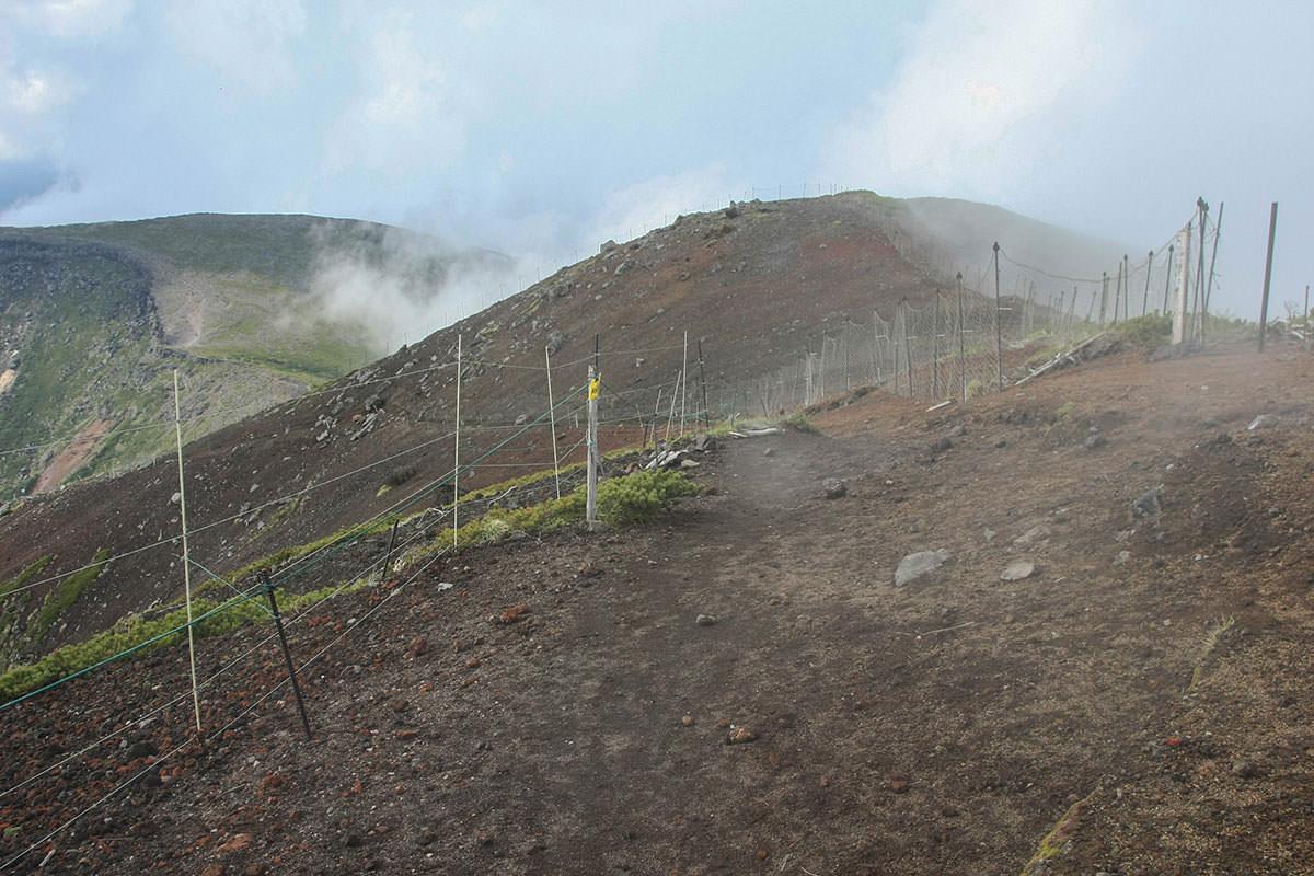 【南八ヶ岳 南北縦走】登山百景-電柵がいっぱい