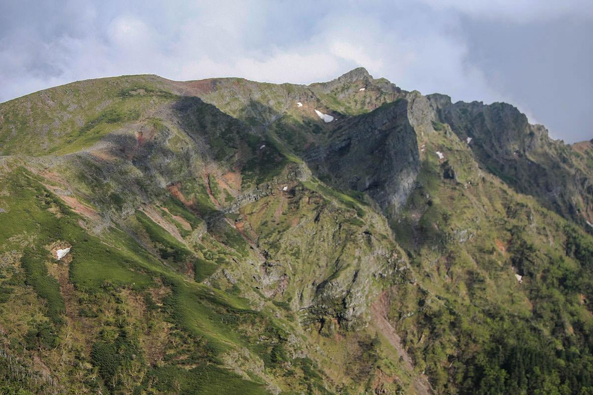 【南八ヶ岳 南北縦走】登山百景-地層も一望