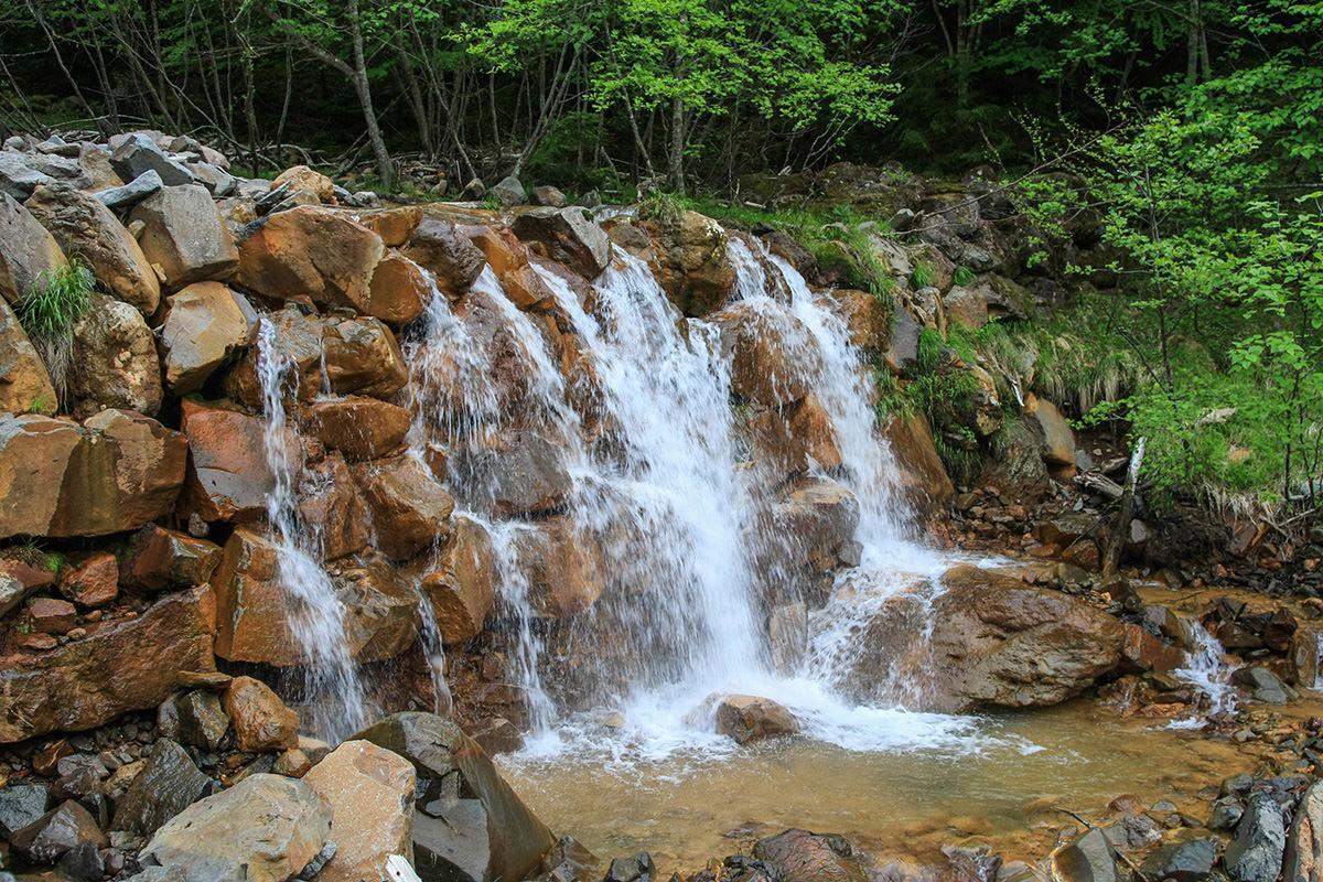 【南八ヶ岳 南北縦走】登山百景-夏沢鉱泉前の川は香る