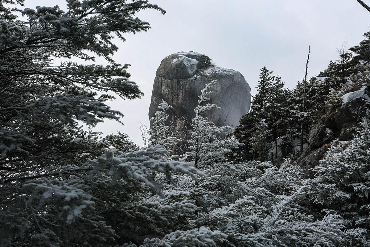大ヤスリ岩と同じ高さに
