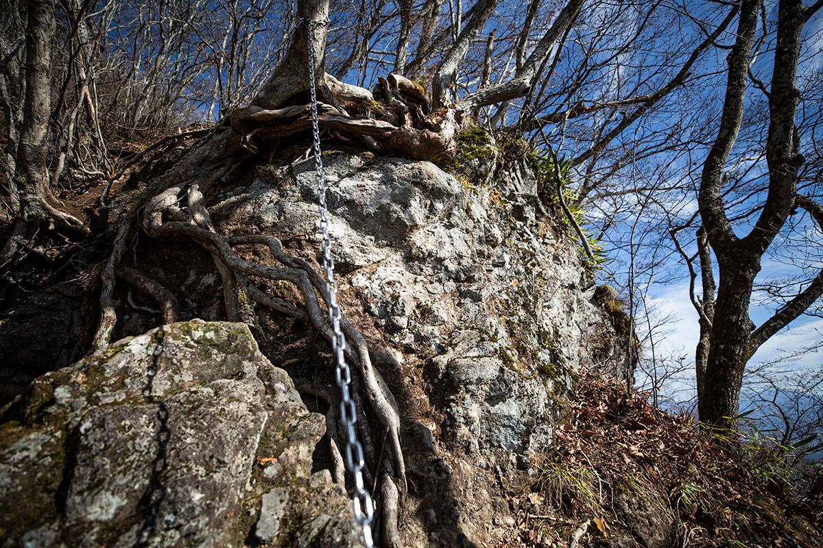 岩を登るのか巻くのか