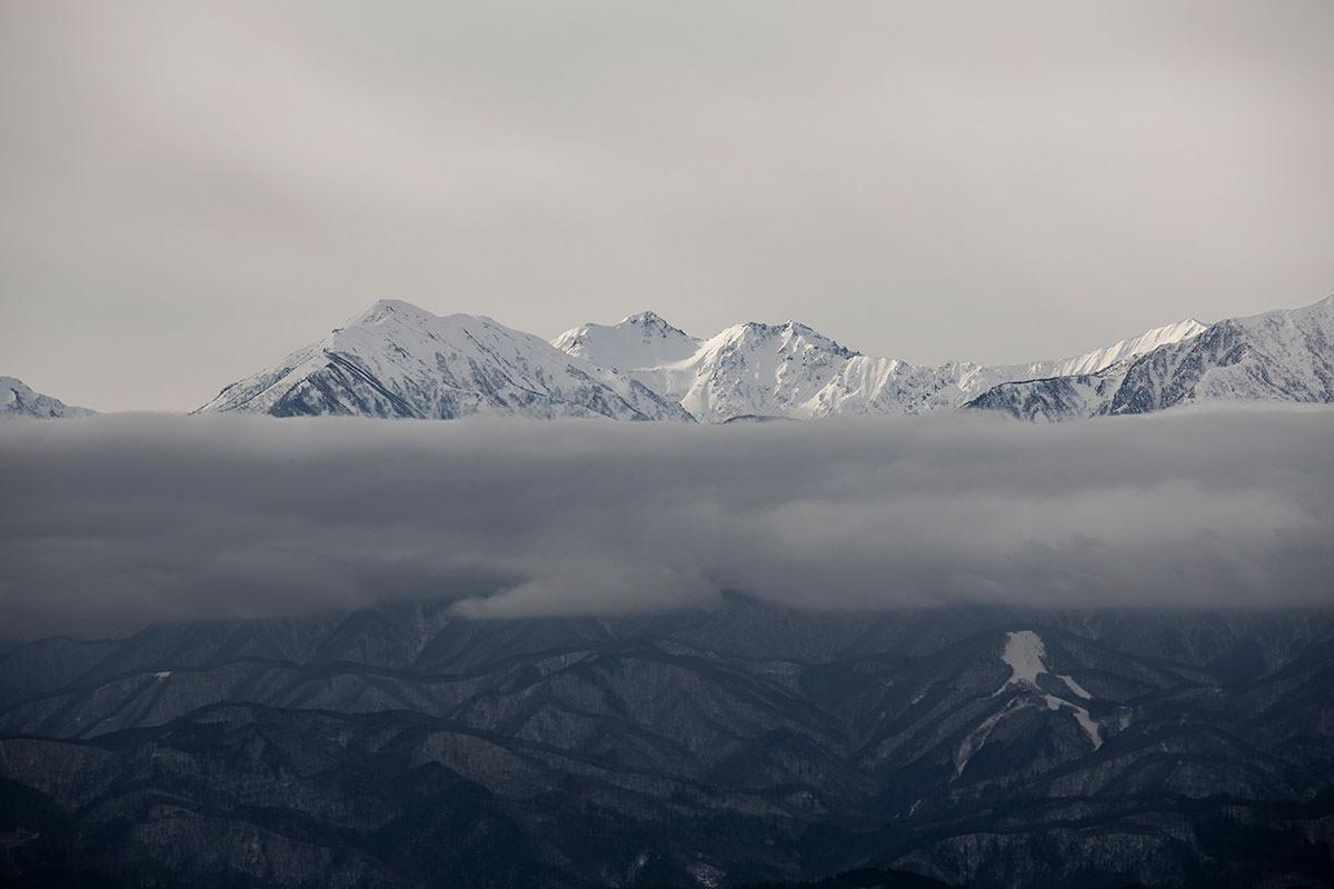 蓮華岳と針木岳