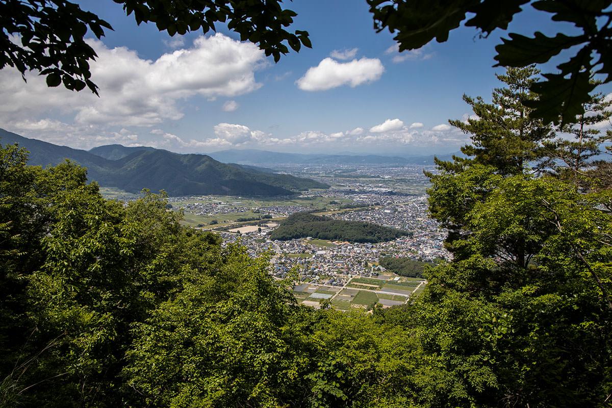 大谷山を過ぎたところの眺めが良い場所