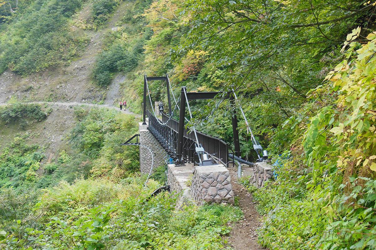 【妙高山】登山百景-最後に吊り橋