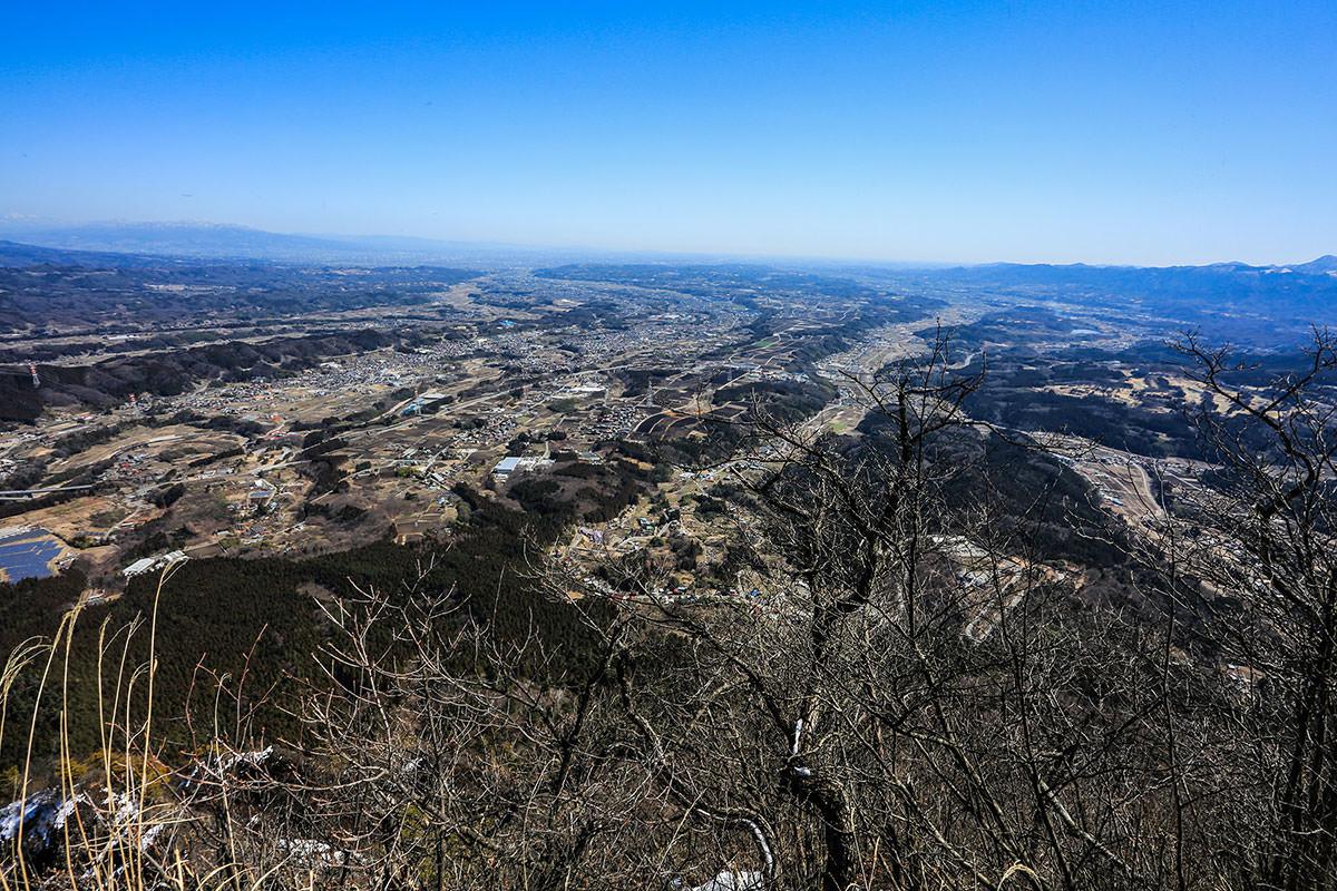 【妙義山】登山百景-関東平野一望