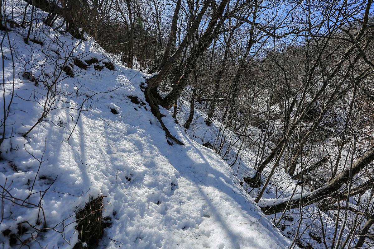 【妙義山】登山百景-天狗岩へ登り返す