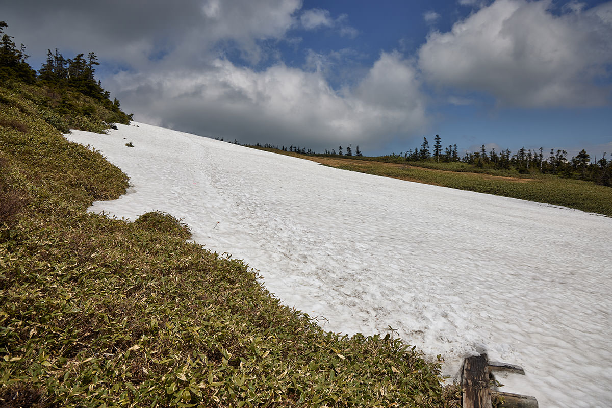 苗場山-雪の上を歩く