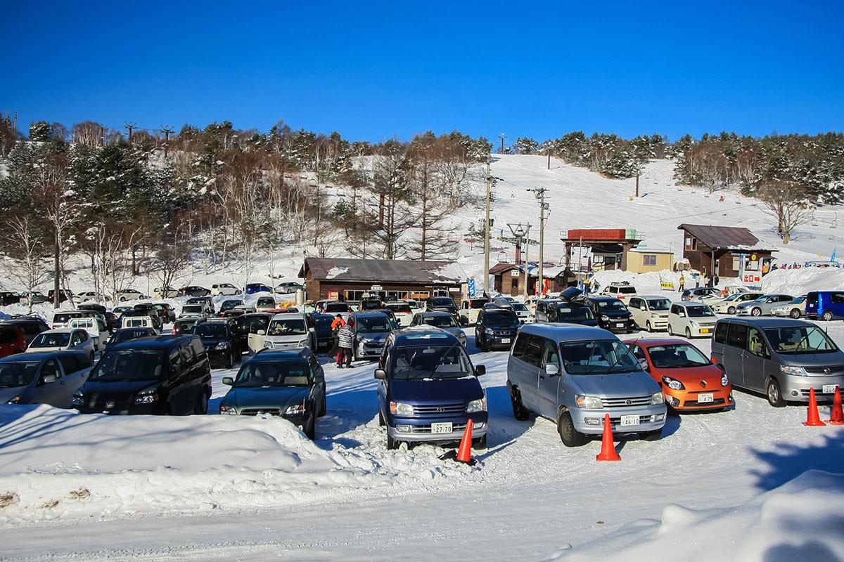【根子岳 峰の原高原コース】登山百景-奥ダボスの駐車場