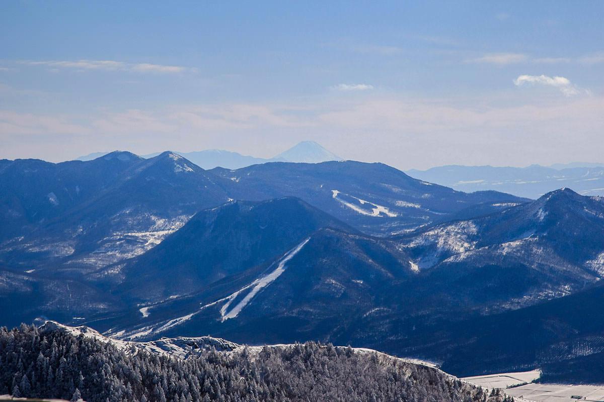 【根子岳 峰の原高原コース】登山百景-うっすら富士山