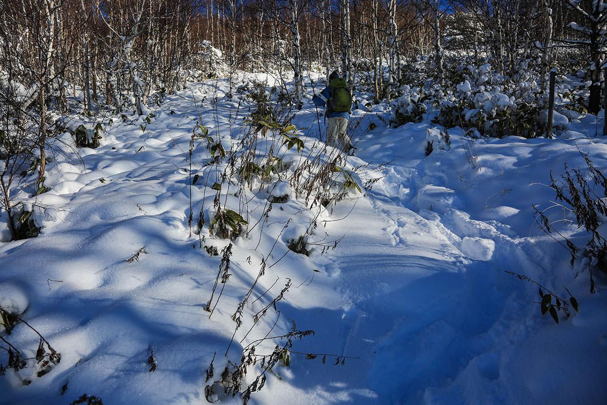 【根子岳 菅平高原】登山百景-雪質は抜群に良い