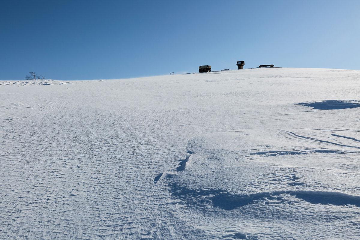 山頂が近づいた