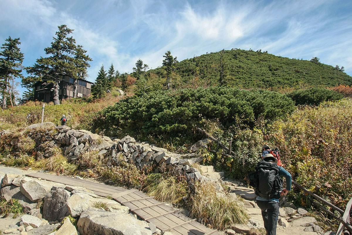 【西穂高岳】登山百景-山荘から独標方面