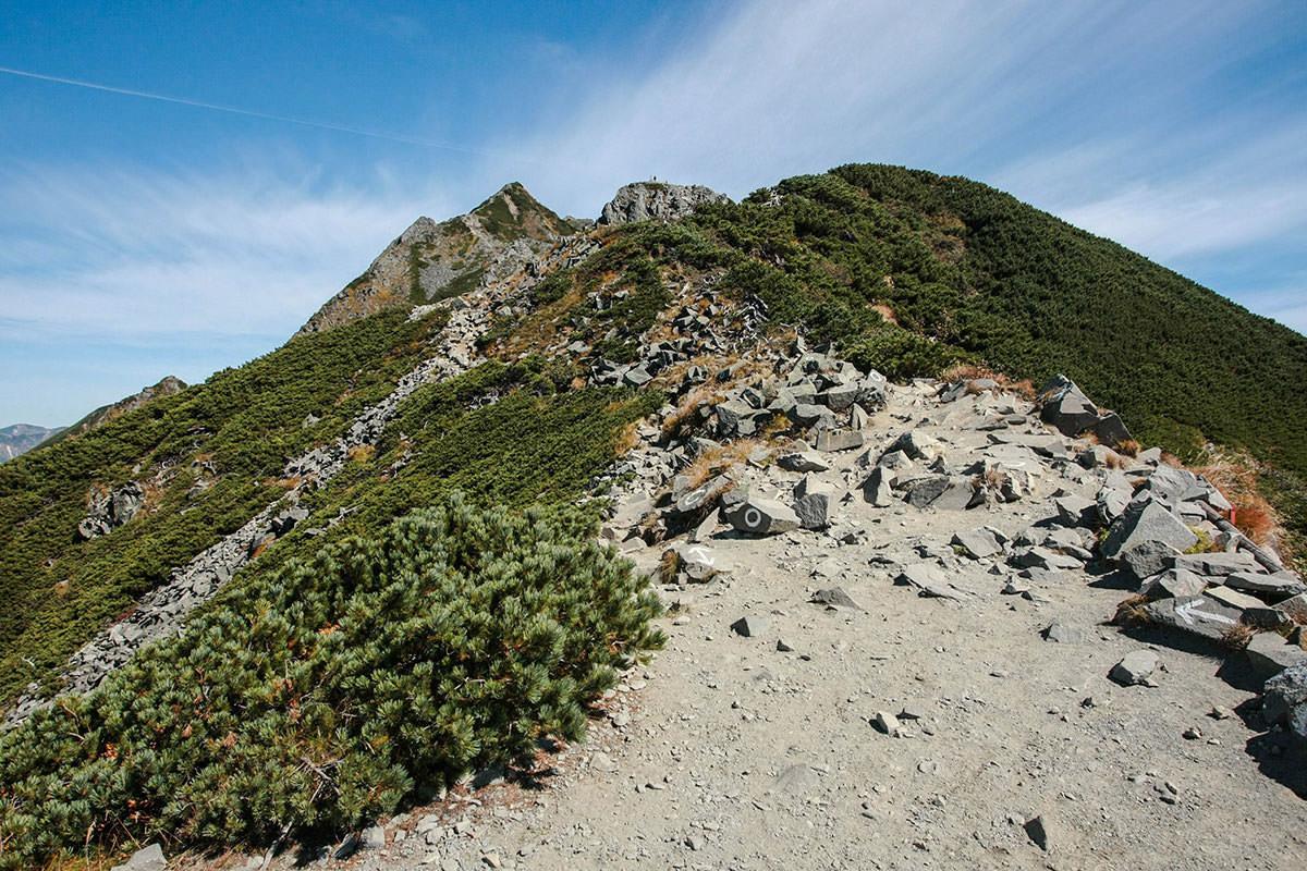 【西穂高岳】登山百景-独標に人が見える
