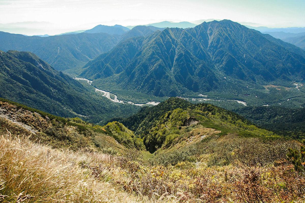 【西穂高岳】登山百景-下には上高地