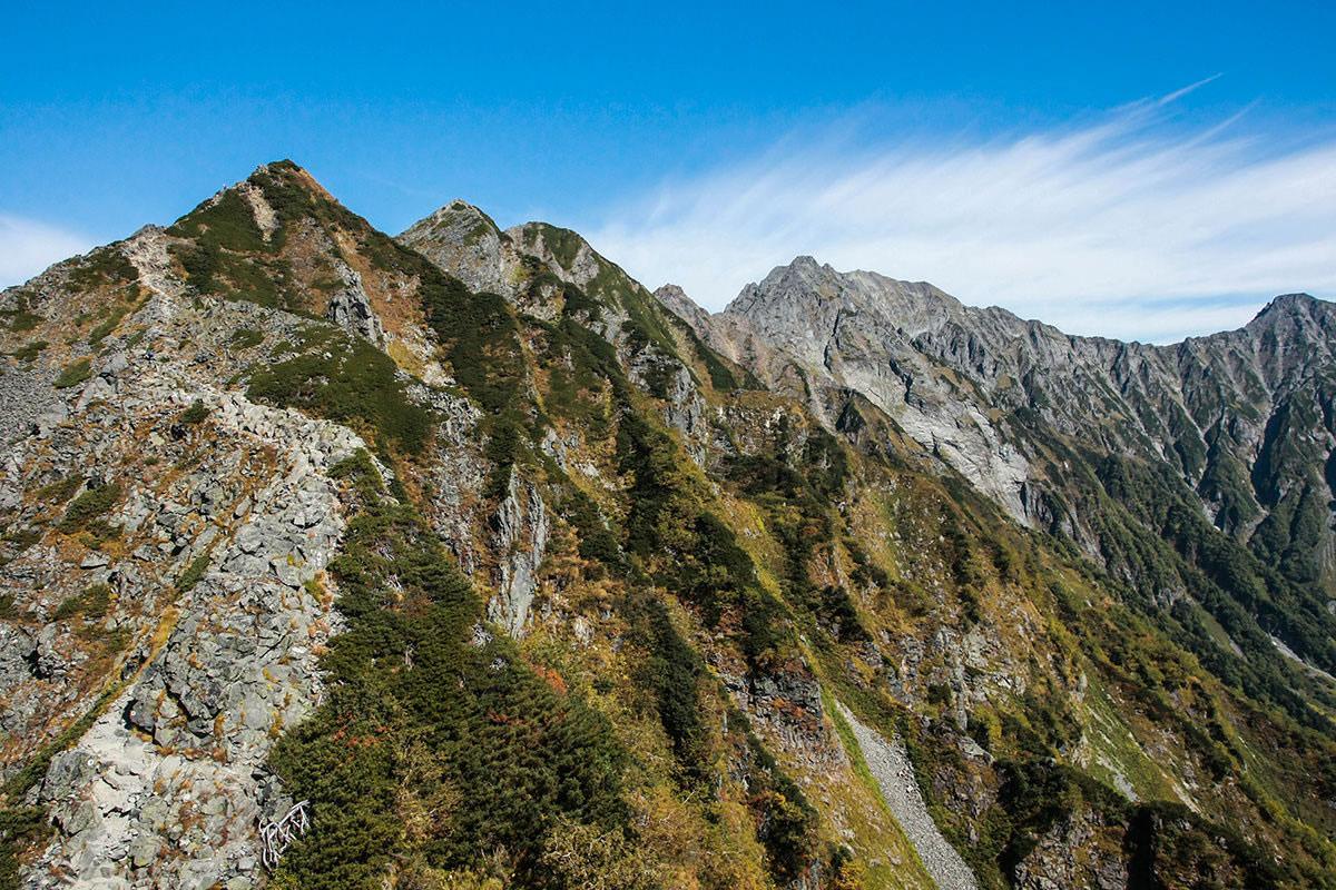 【西穂高岳】登山百景-穂高連峰3つ見えた