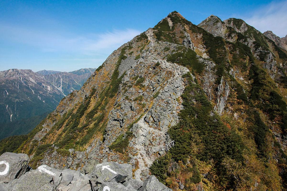 【西穂高岳】登山百景-ここから岩続き