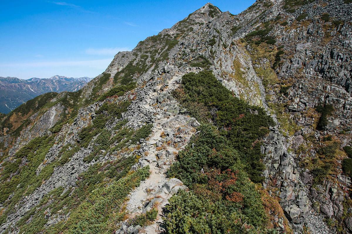 【西穂高岳】登山百景-下りたら登る
