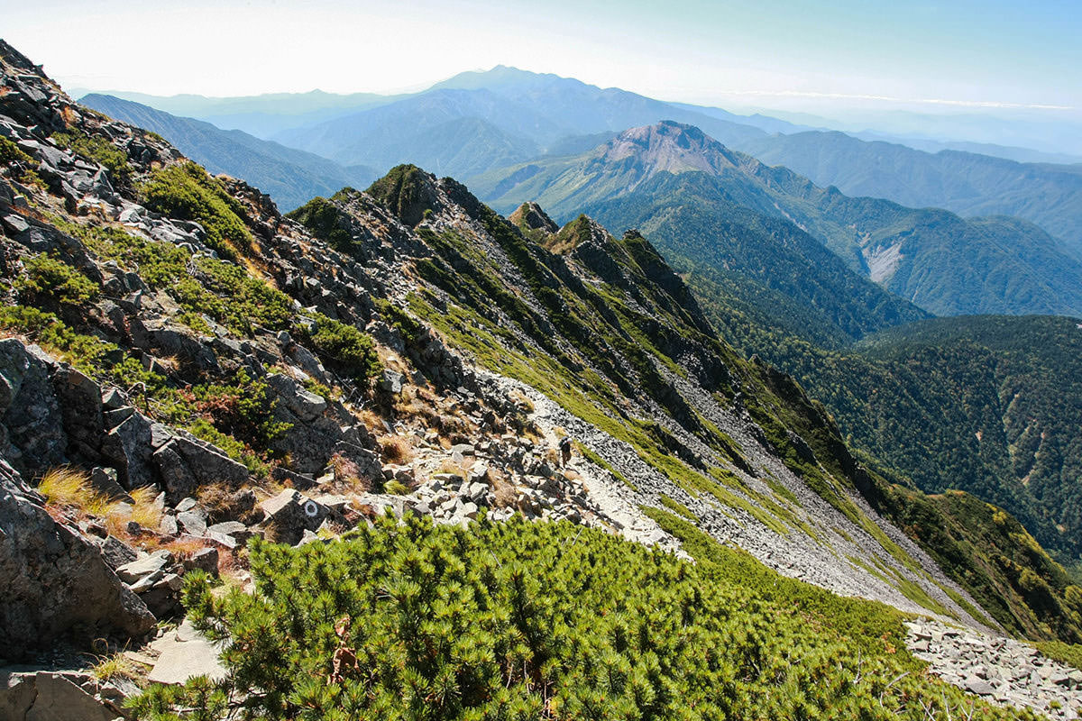 【西穂高岳】登山百景-振り返って大迫力