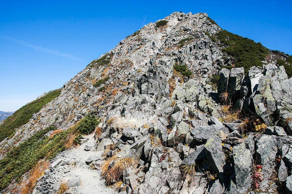【西穂高岳】登山百景-山頂はそこ