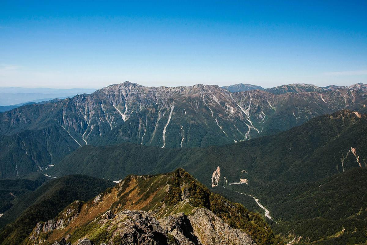 【西穂高岳】登山百景-笠ヶ岳が見える