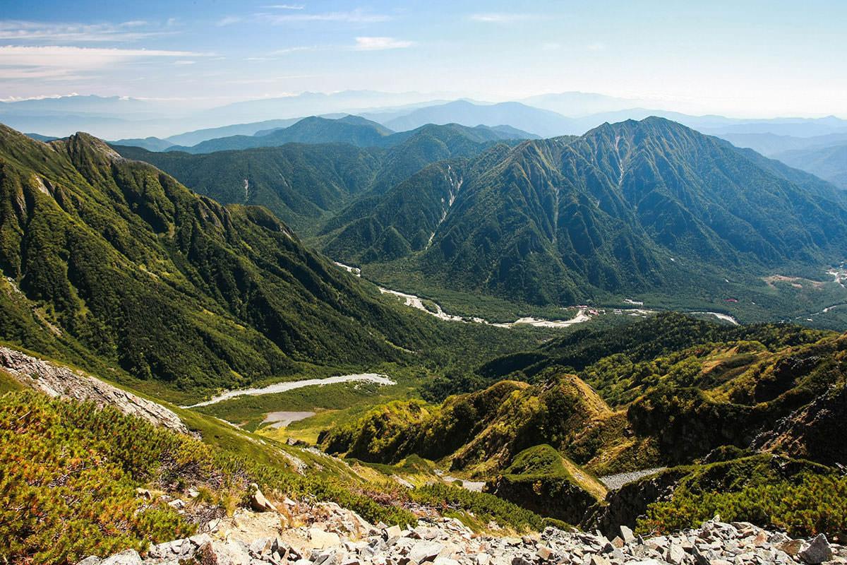 【西穂高岳】登山百景-真下には上高地