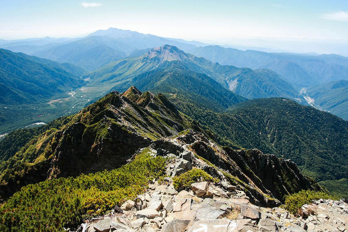 【西穂高岳】登山百景-来た道を帰る