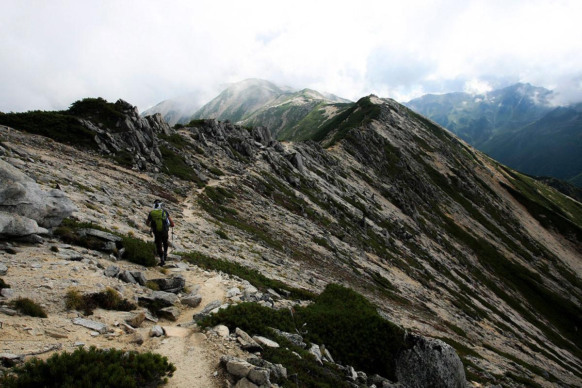 野口五郎岳へのルート