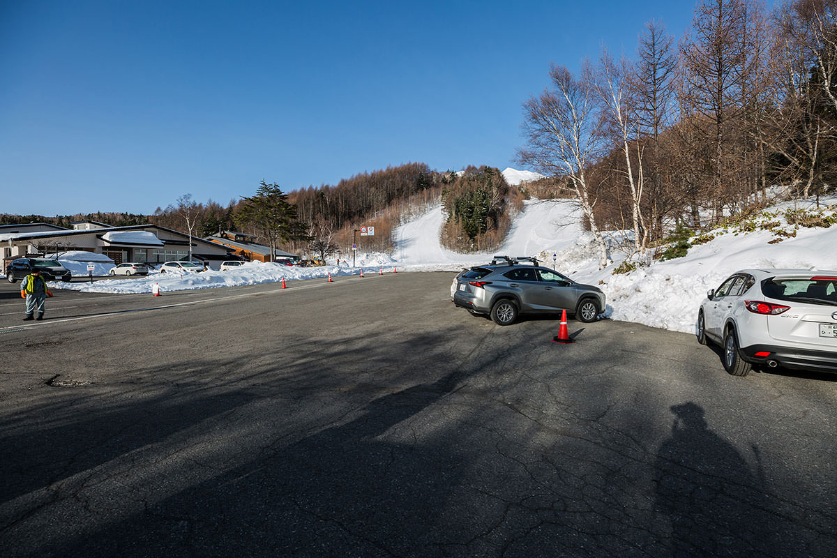 【乗鞍岳 Mt.乗鞍スノーリゾート】登山百景-ここに車を停める