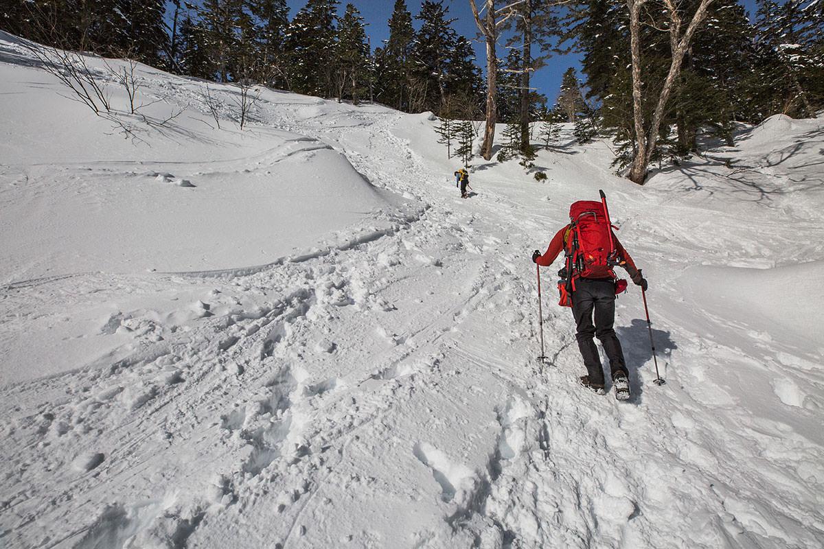 【乗鞍岳 Mt.乗鞍スノーリゾート】登山百景-すぐに急な斜面がある