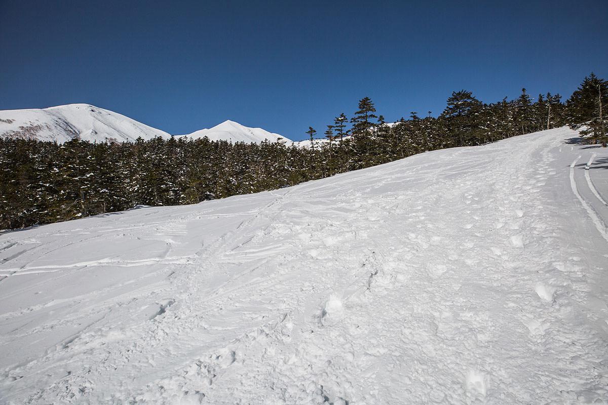 【乗鞍岳 Mt.乗鞍スノーリゾート】登山百景-だんだんと剣ヶ峰が近づく