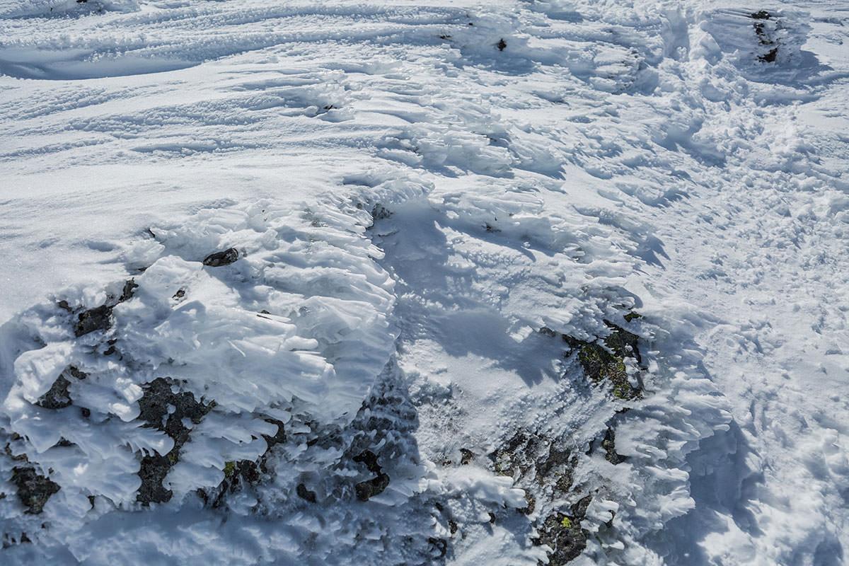 【乗鞍岳 Mt.乗鞍スノーリゾート】登山百景-足元はこんな状態