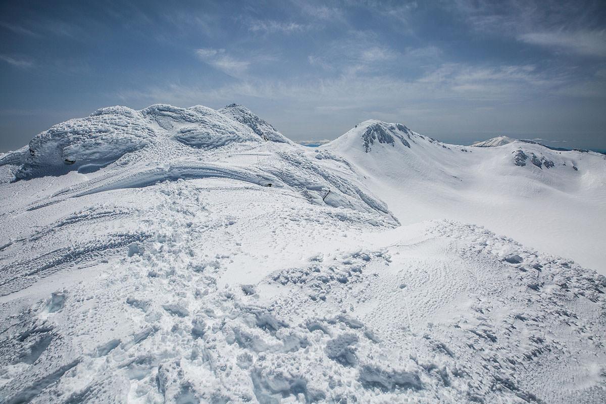 【乗鞍岳 Mt.乗鞍スノーリゾート】登山百景-朝日岳到着