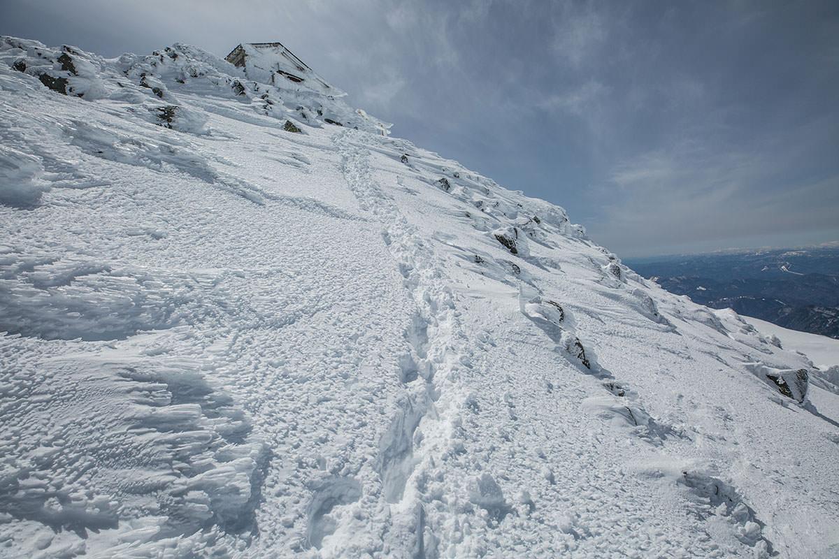 【乗鞍岳 Mt.乗鞍スノーリゾート】登山百景-山頂付近は雪が柔らかい