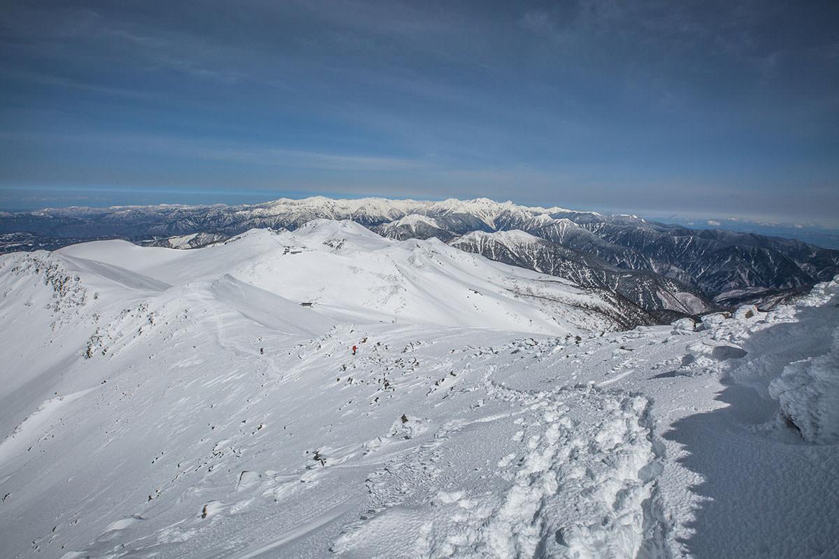 【乗鞍岳 Mt.乗鞍スノーリゾート】登山百景-振り返ると北アルプス