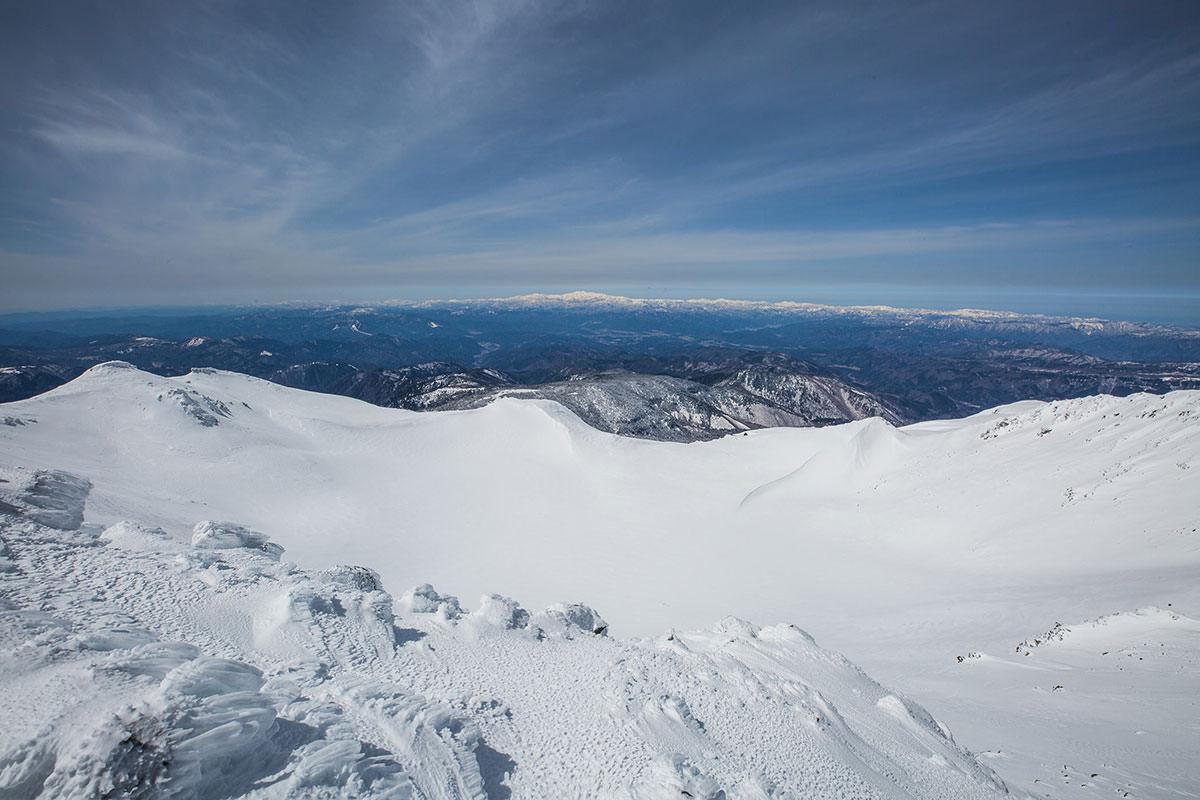 【乗鞍岳 Mt.乗鞍スノーリゾート】登山百景-西側に見える白山と北陸の山