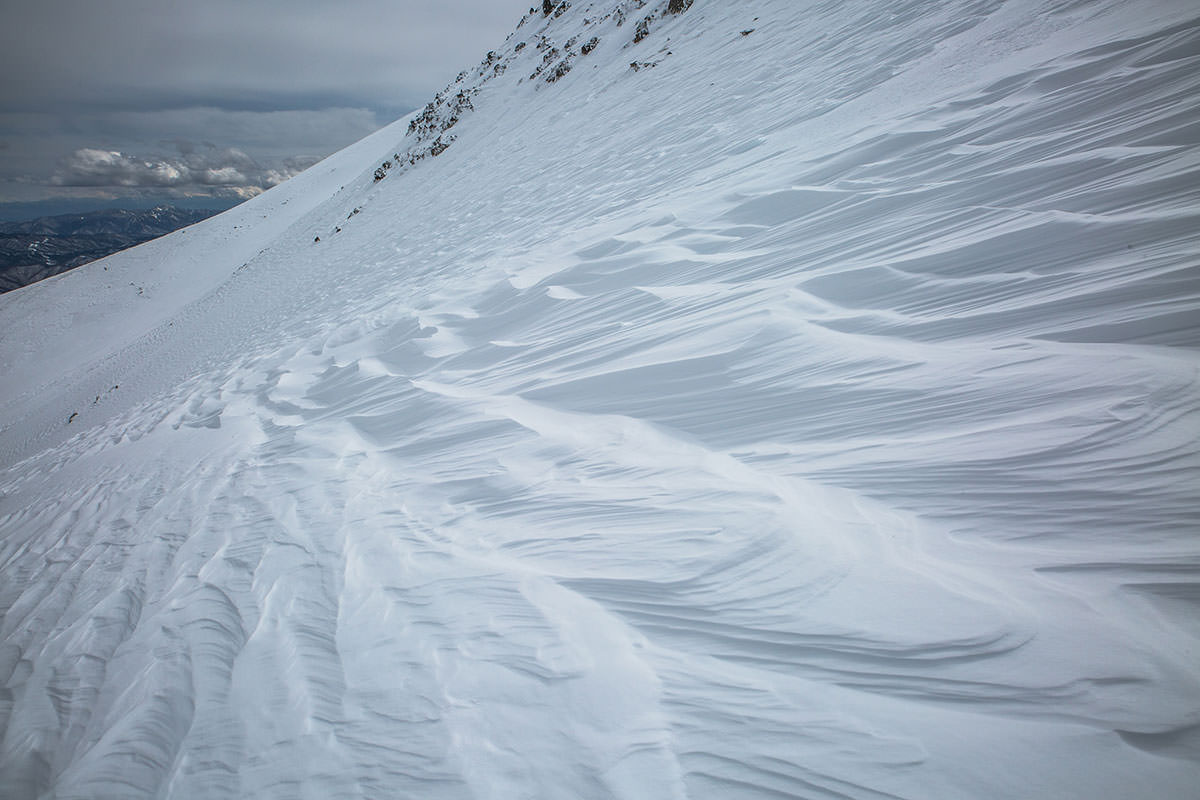 【乗鞍岳 Mt.乗鞍スノーリゾート】登山百景-シュカブラが大きい