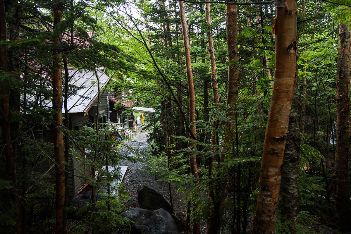 【にゅう】登山百景-青苔荘に着いた