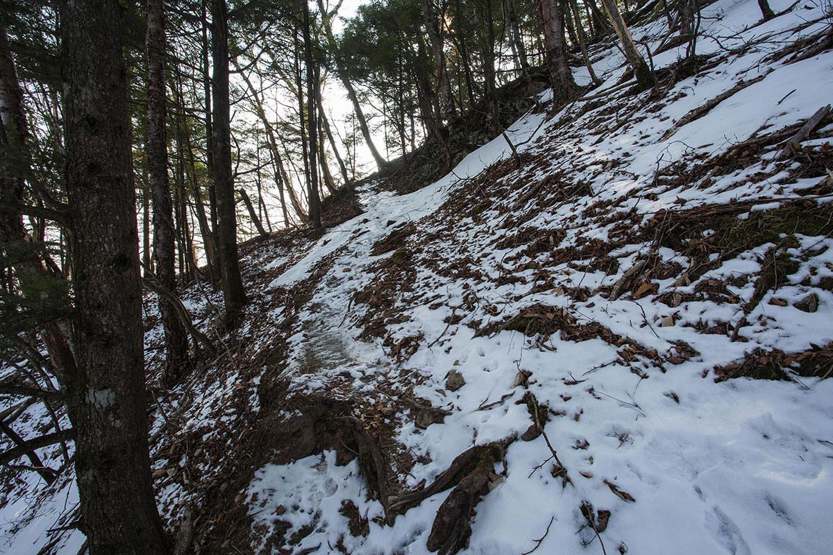 【御座山】登山百景-雪の下には氷
