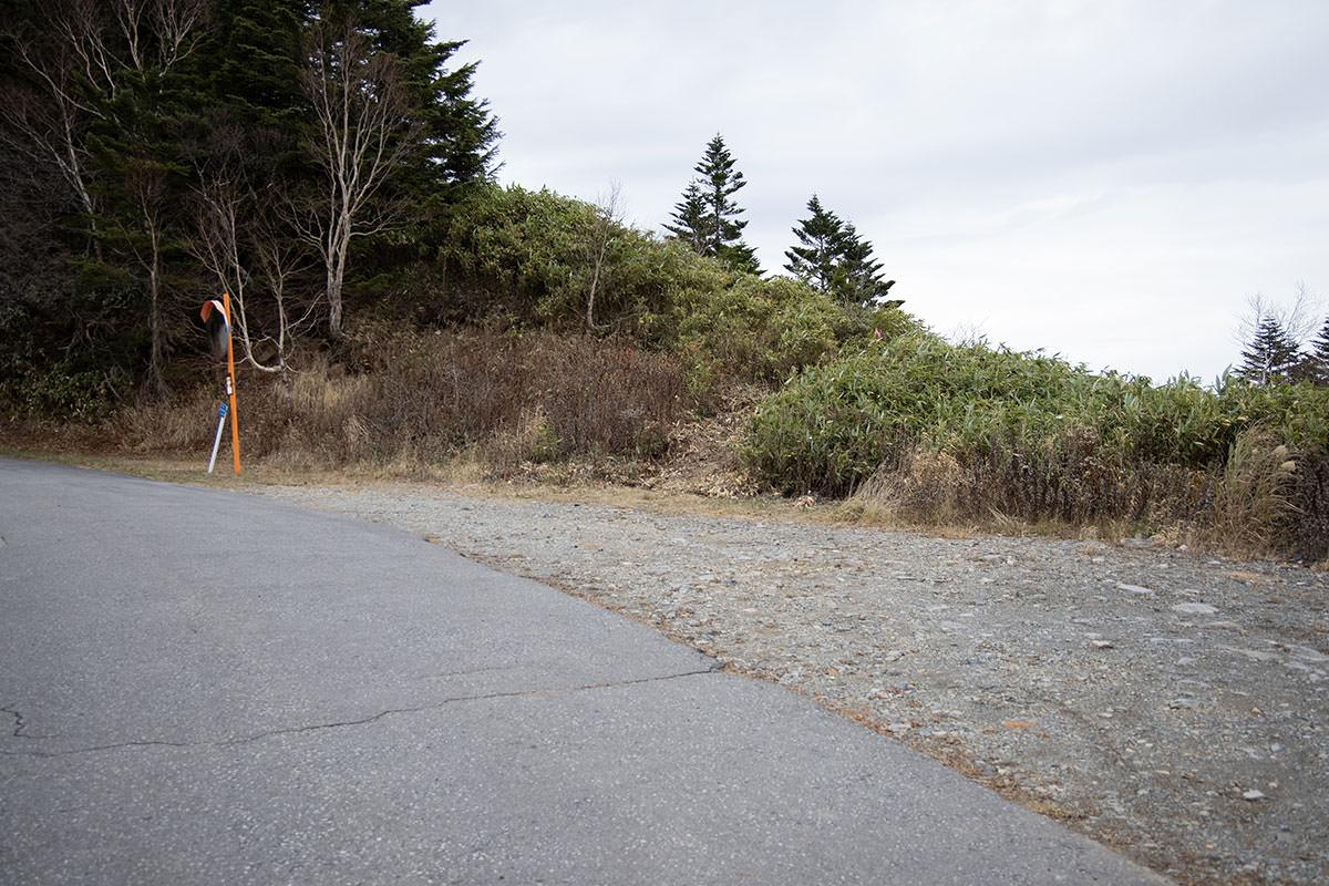 老ノ倉山-分岐の空いているところに車を停める