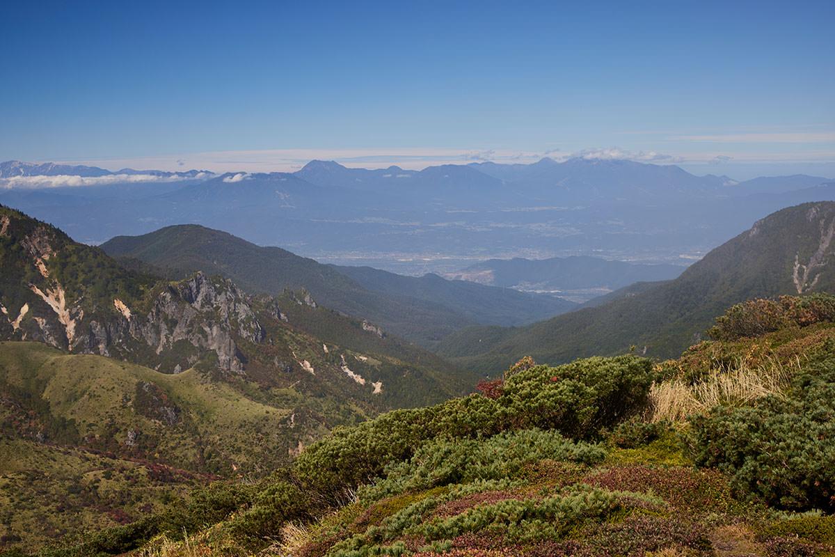 御飯岳-長野市の方は晴れていて眺めが良い