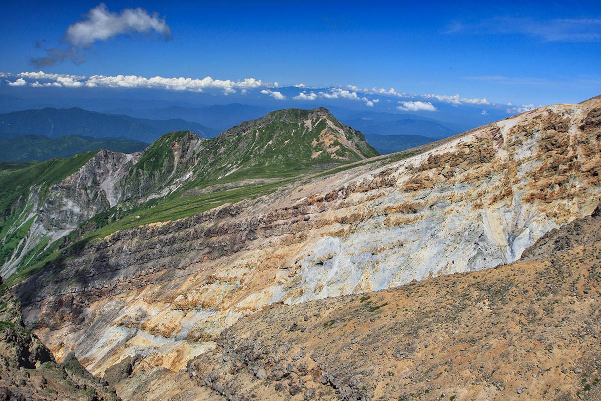 【御嶽山】登山百景-硫黄が噴き出している