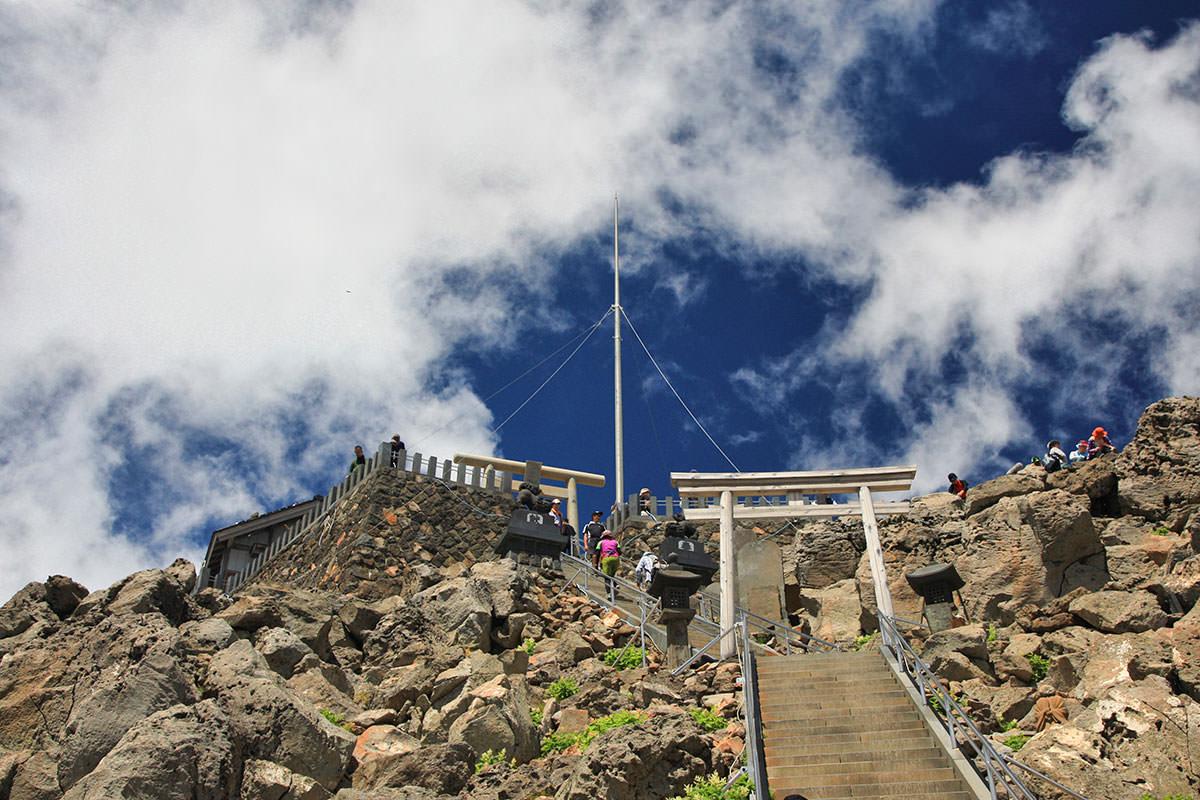 【御嶽山】登山百景-山頂到着