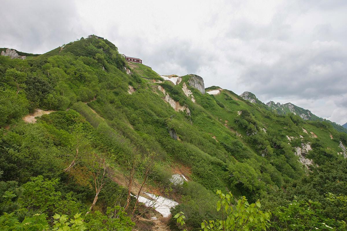 【大天井岳】登山百景-白い岩が増えた