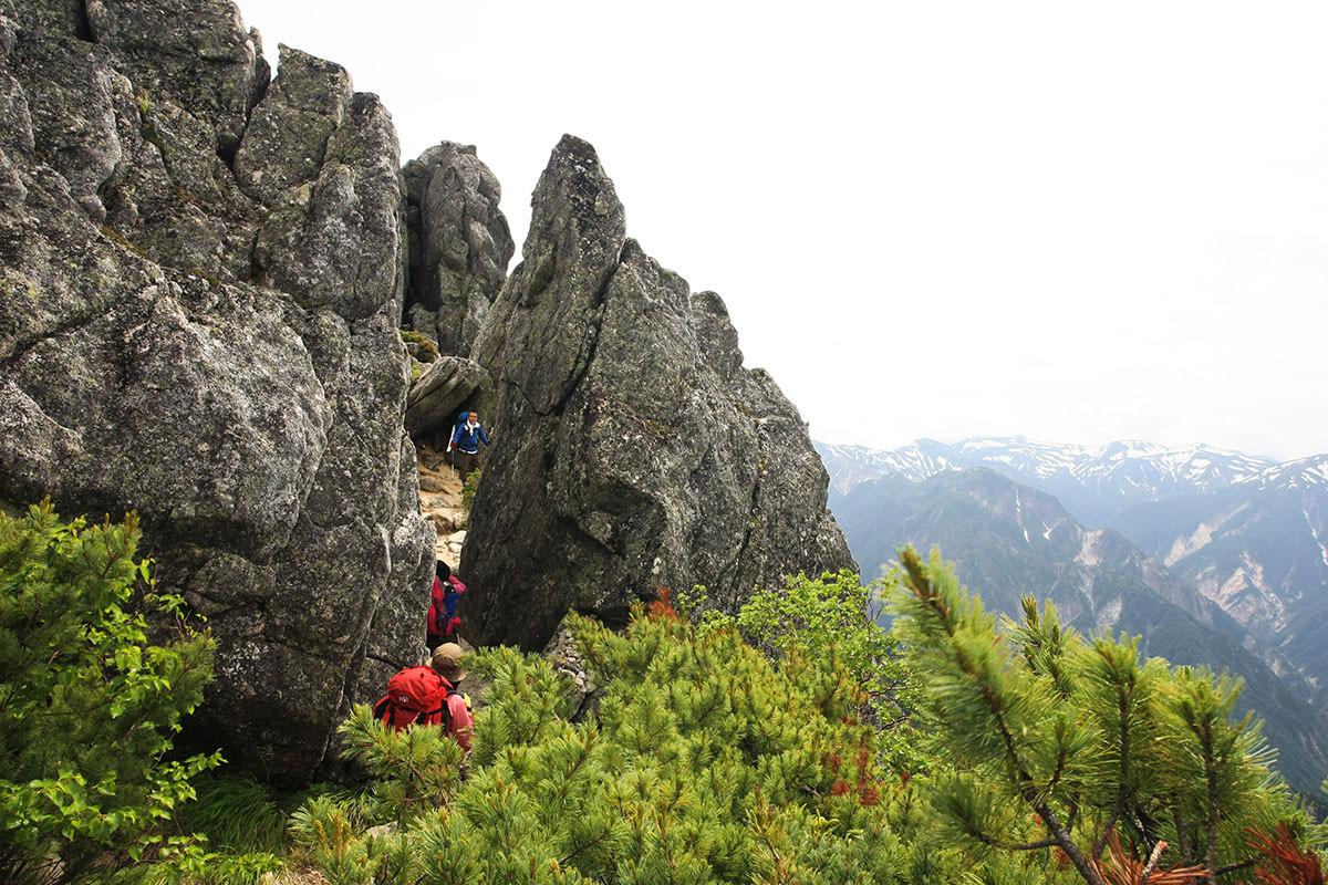 【大天井岳】登山百景-ゲーロ岩着いた