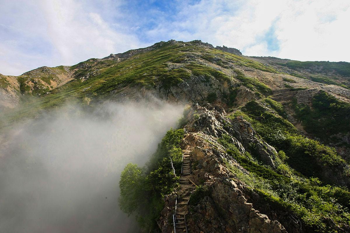 【大天井岳】登山百景-歩いてきた稜線を振り返る